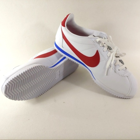 reputable site 1ac16 82339 Nike Classic Cortez Leather White Red Shoes Forres
